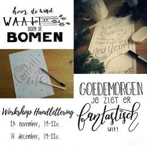 Workshop Handlettering 23 november en 14 december